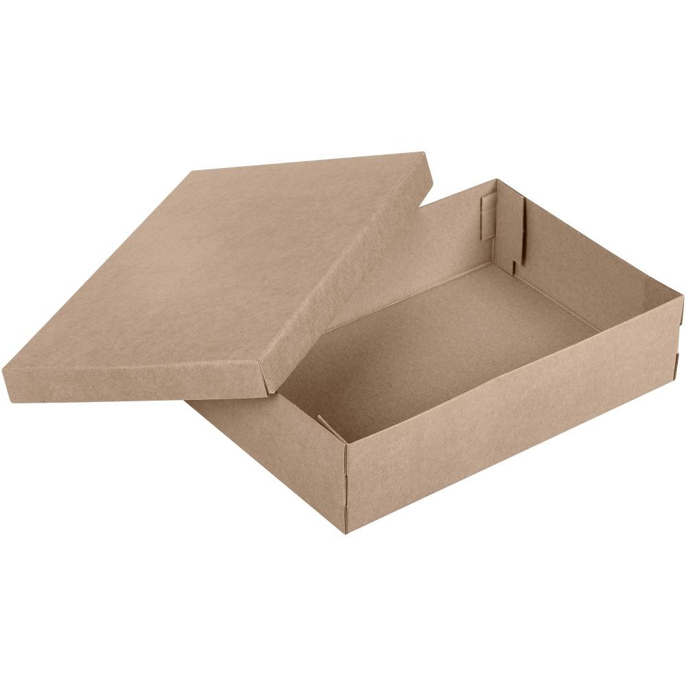 Коробка Common, L крафт, самосборная, 34,5х23х9 см, микрогофрокартон - 1