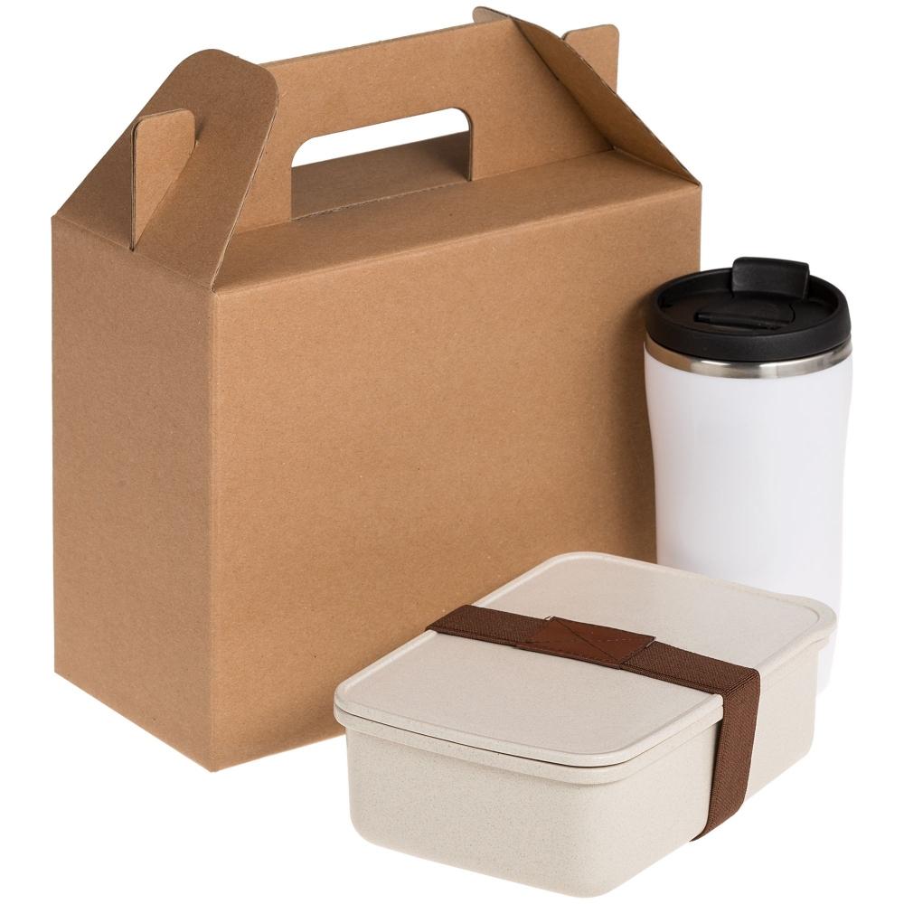 Коробка In Case S, крафт, самосборная, 21,4х23х10,4 см, микрогофрокартон - 1