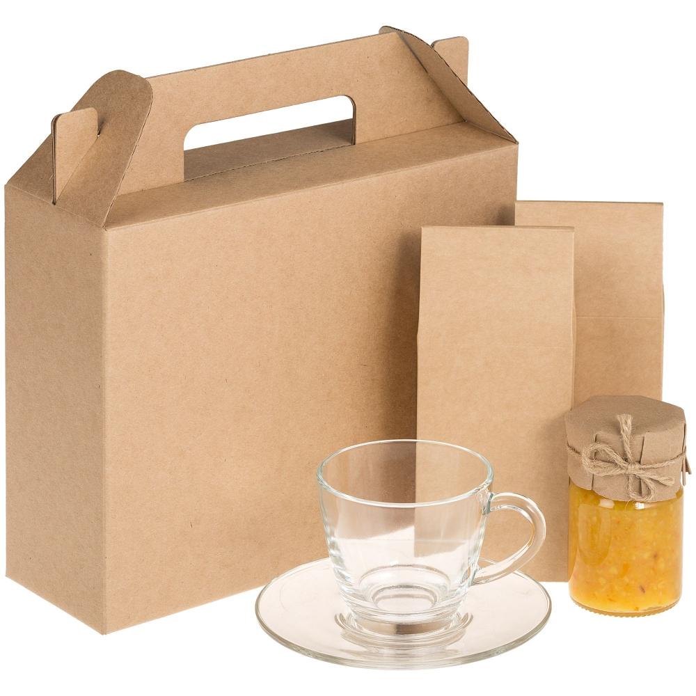 Коробка In Case M, крафт, самосборная, 26,3х27х9,2 см, микрогофрокартон - 1