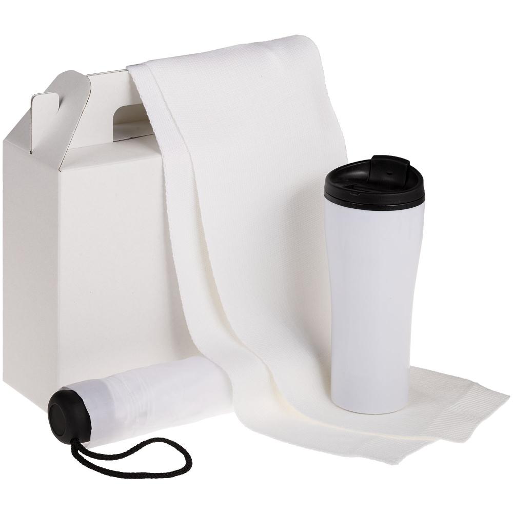 Коробка In Case M, белый, самосборная, 26,3х9,2х27 см, микрогофрокартон - 1