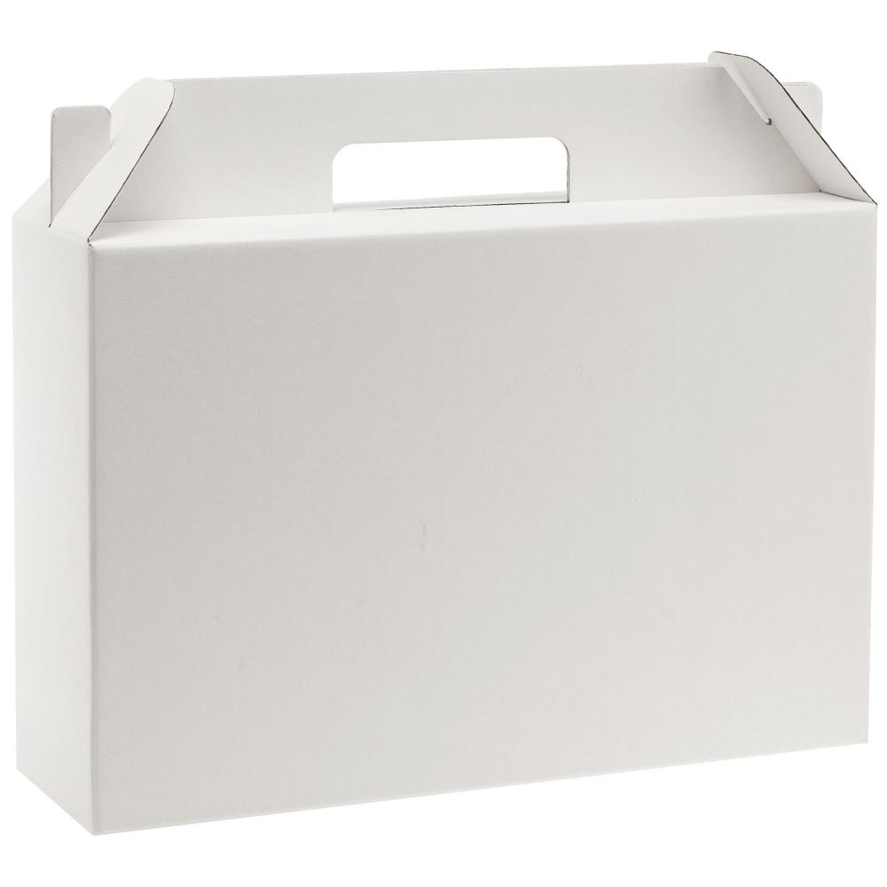 Коробка In Case L, белый, самосборная, 35,7х10,2х30 см, микрогофрокартон - 1