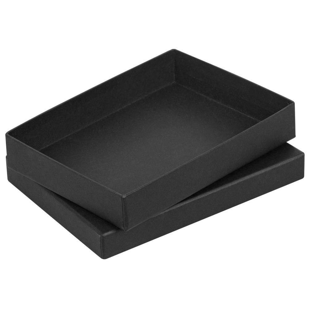 Коробка Slender, большая, черная, 17х13х2,9 см, переплетный картон - 1