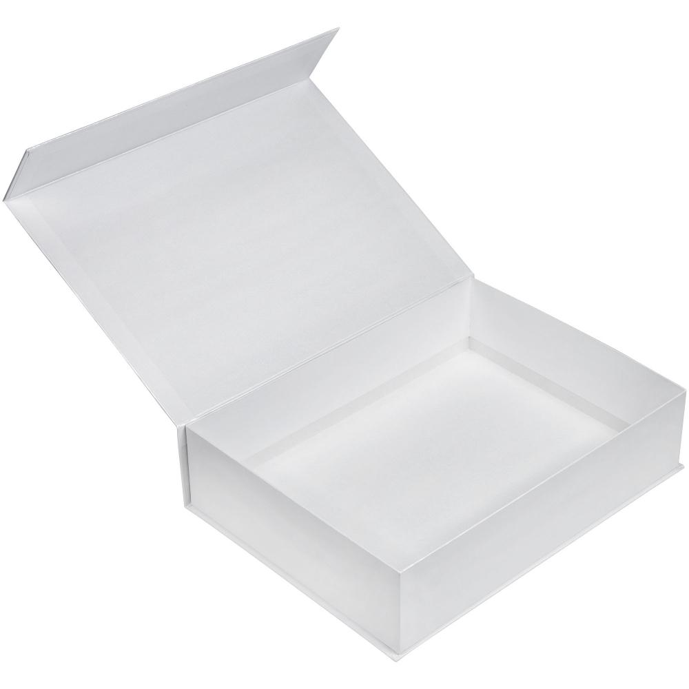 Коробка Koffer, белая, 40х30х10 см, переплетный картон - 1
