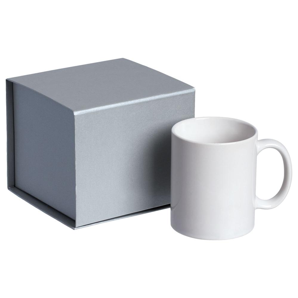 Коробка Alian, серебристая, 13,5х12,5х11,5 см, переплетный картон - 4