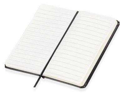 Блокнот А6 «Имлес», черный, картон, покрытый бумагой под искусственную кожу - 1