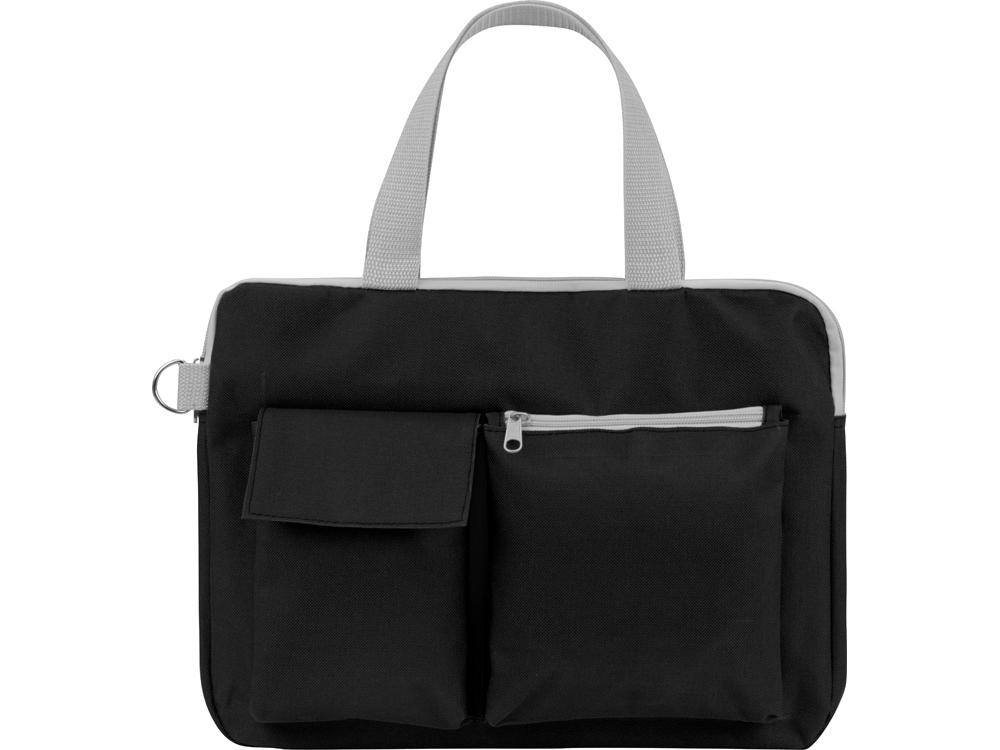 Конференц сумка для документов «Event», черный, полиэстер 600D - 2