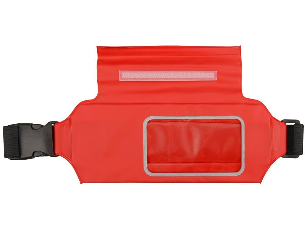 Сумка на пояс «Vert», красный, PVC - 3