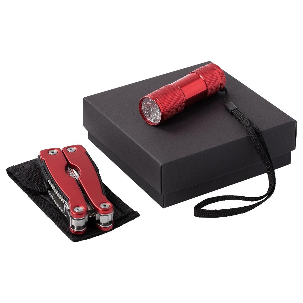 Набор Handmaster: фонарик и мультитул, красный - 2