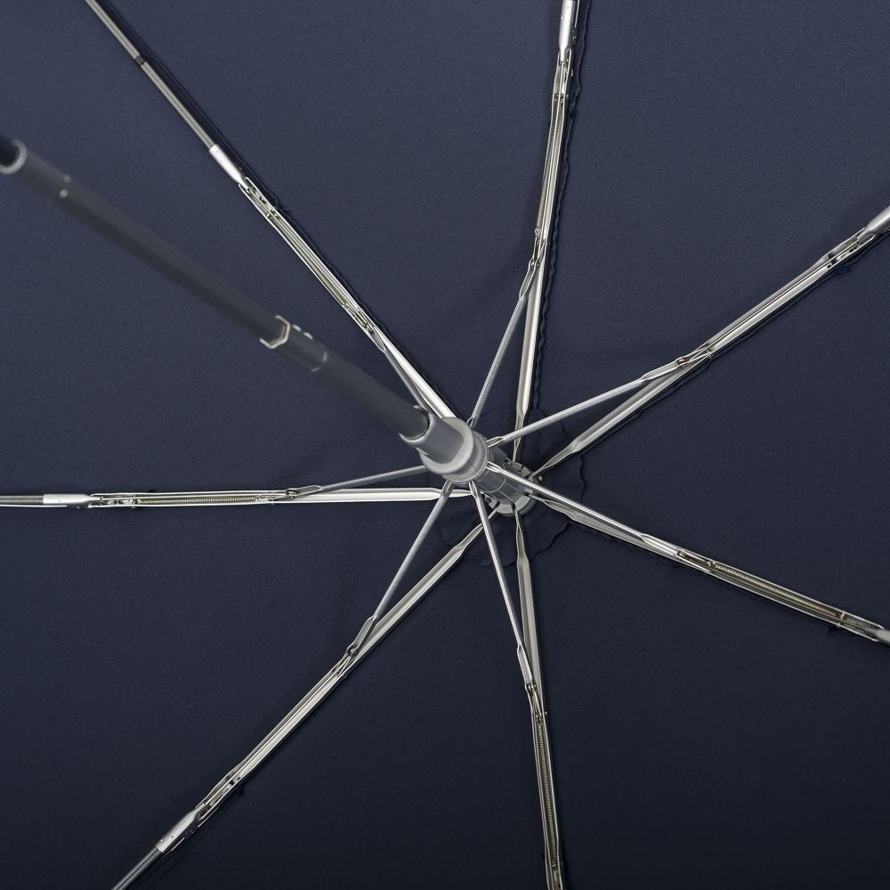 Складной зонт Alu Drop, 3 сложения, 7 спиц, автомат, темно-синий - 12
