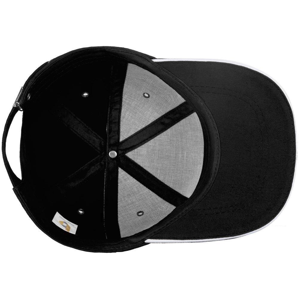 Бейсболка Bizbolka Canopy, черная с белым кантом - 3