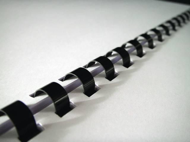 Пружины для переплета пластиковые Fellowes®, 14 мм., (81-100 листов), 100 шт.,  21 кольцо, черные. - 2