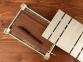 Подарочная деревянная коробка, серебристый, 25,5 х 16,5 х 4,8 см, дерево - 1