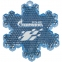 Пешеходный светоотражатель «Снежинка», синий - 8