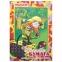 """Цветная бумага А4 газетная, 16 листов 8 цветов, на скобе, ПИФАГОР, 200х283 мм, """"Гномик-грибник"""", 121006 - 1"""