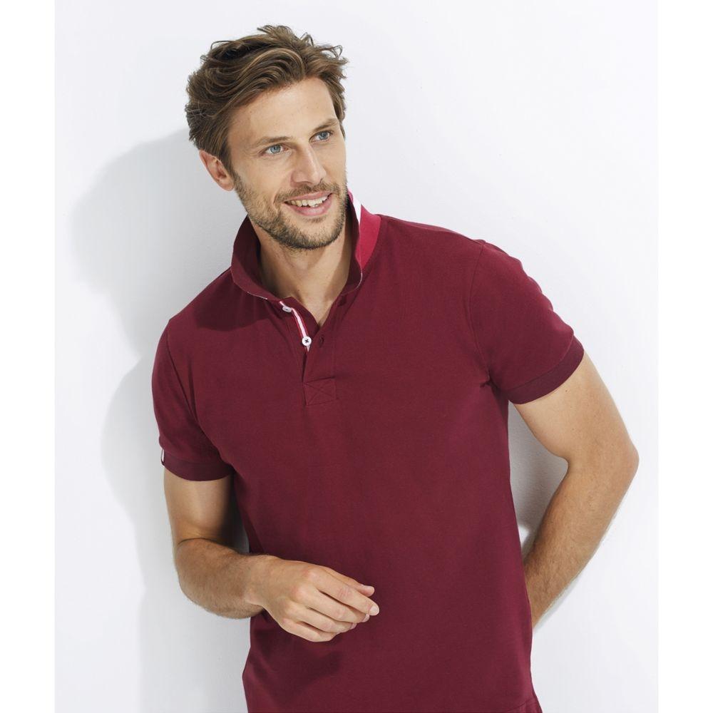 Рубашка поло мужская Patriot 200, бордовая - 6