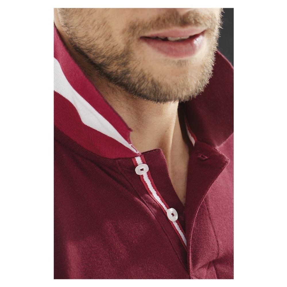 Рубашка поло мужская Patriot 200, бордовая - 10