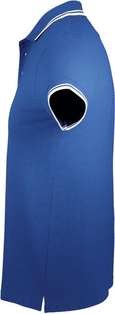 Рубашка поло женская Pasadena Women 200 с контрастной отделкой, ярко-синяя с белым - 7