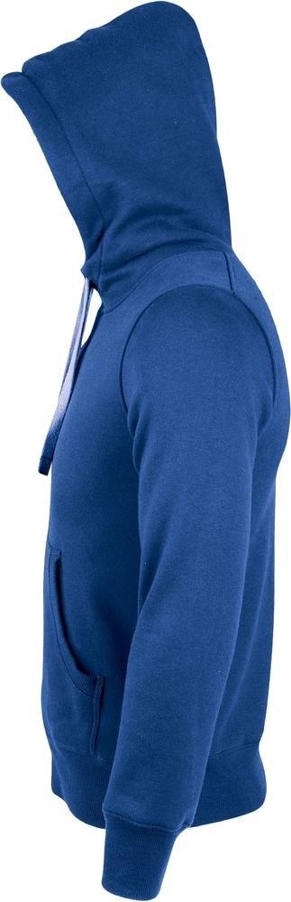 Толстовка унисекс на молнии Shepra 280, ярко-синяя - 2