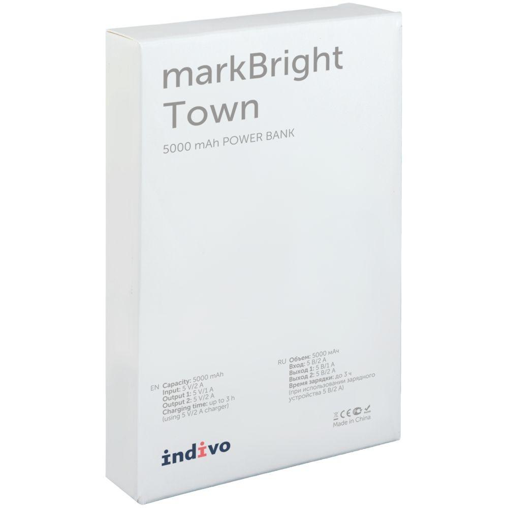 Аккумулятор с подсветкой markBright Town, 5000 мАч, серый - 7