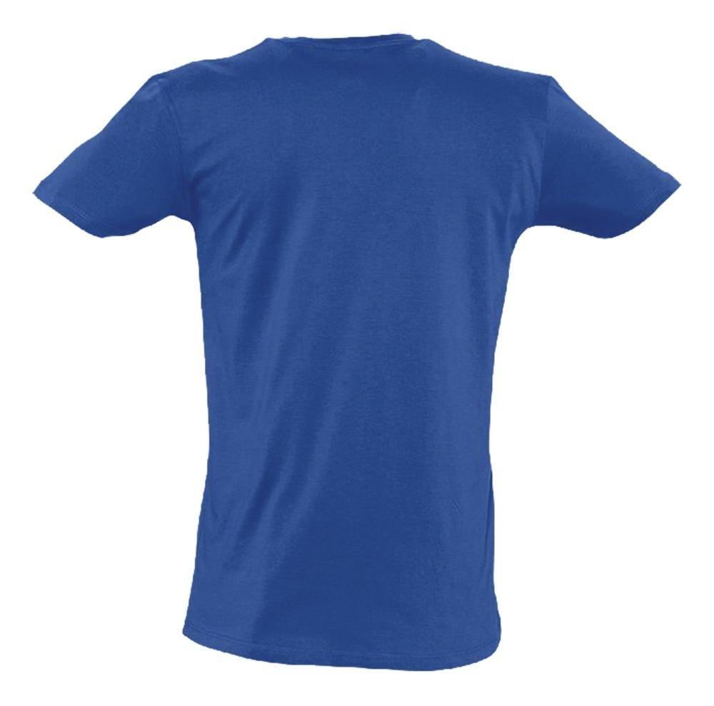 Футболка мужская Master 150 с глубоким V-обр. вырезом, ярко-синяя - 1