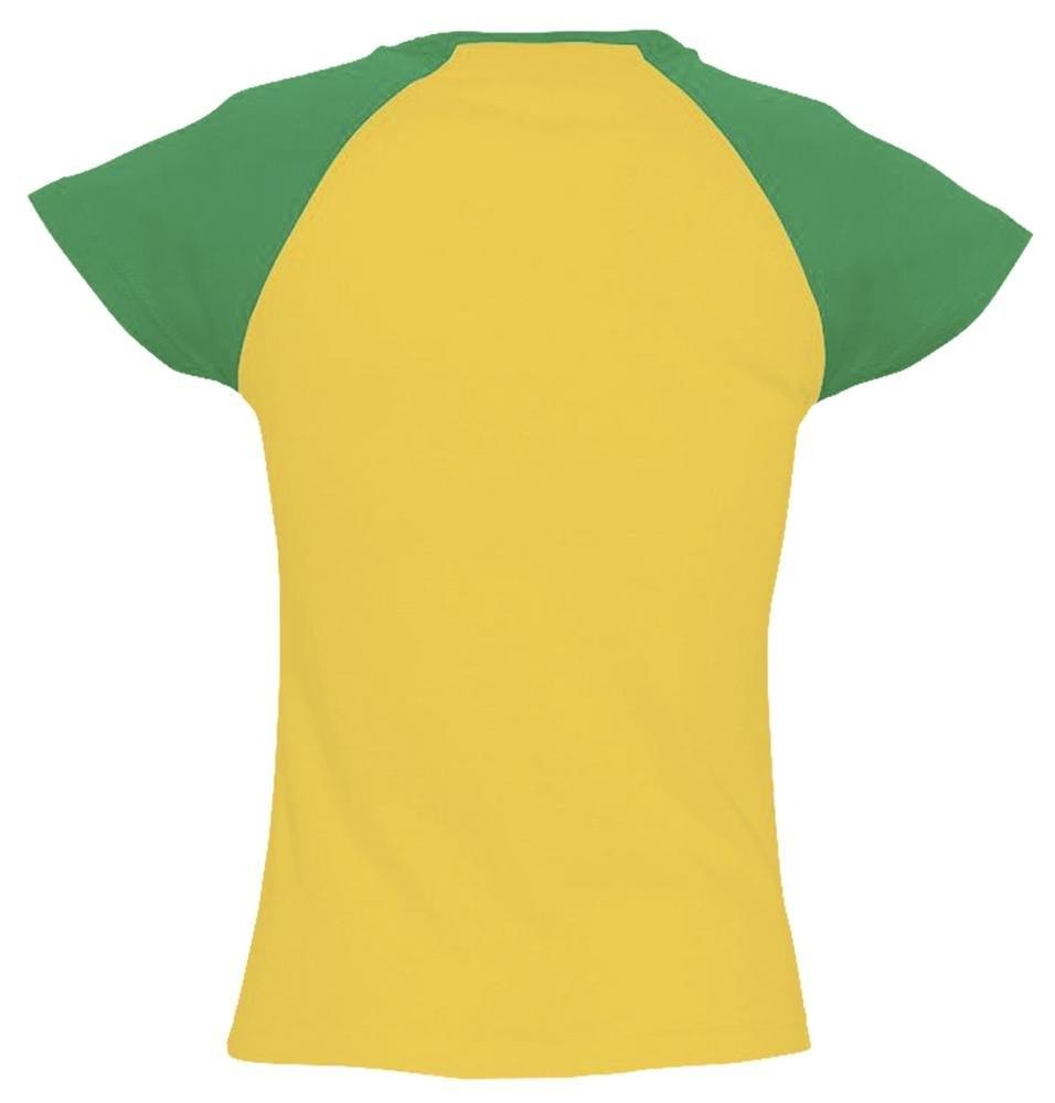 Футболка женская Milky 150, желтая с зеленым - 1