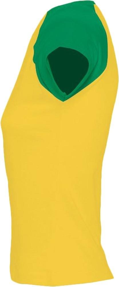 Футболка женская Milky 150, желтая с зеленым - 2