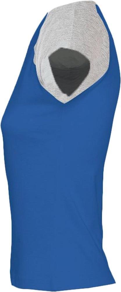 Футболка женская Milky 150, ярко-синяя с серым меланжем - 2
