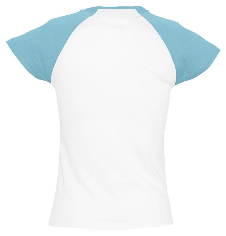Футболка женская Milky 150, белая с голубым - 1