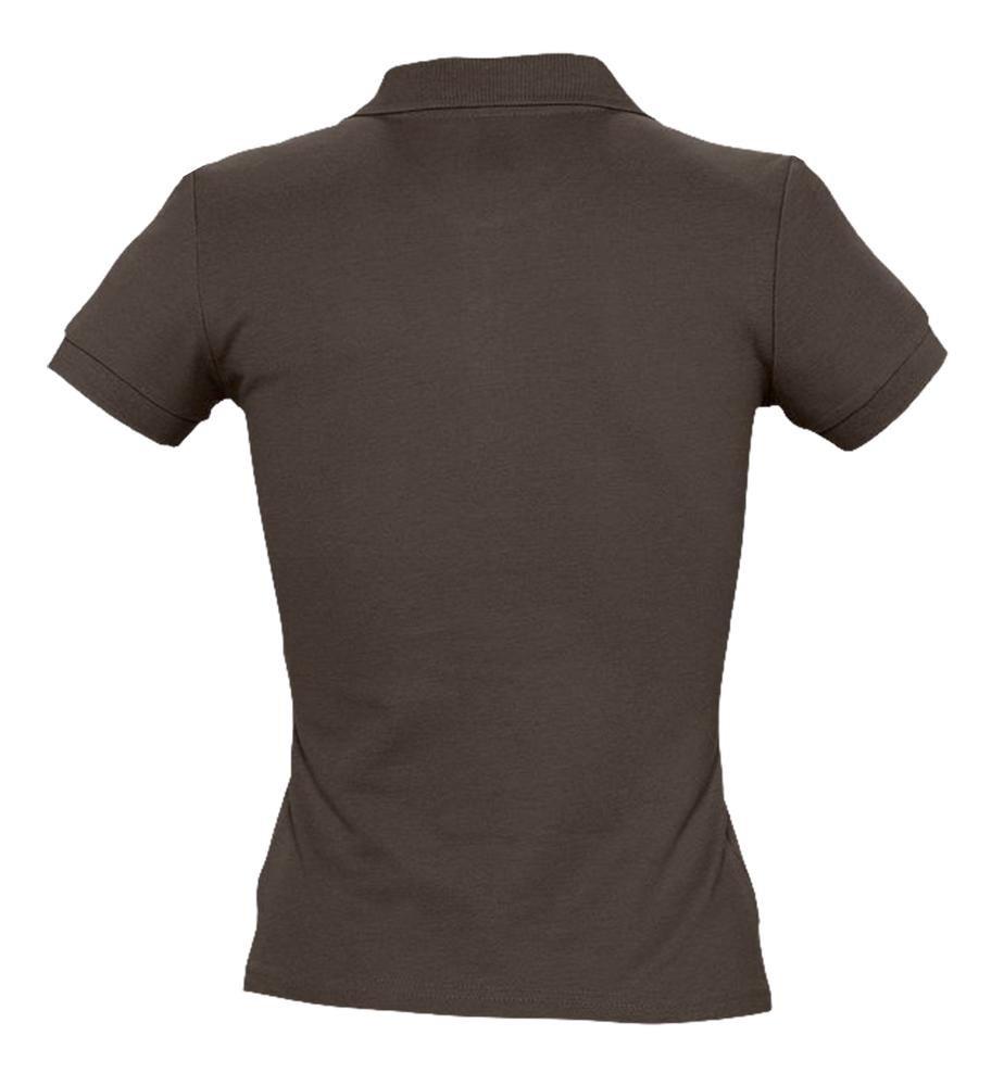 Рубашка поло женская People 210, шоколадно-коричневая - 2