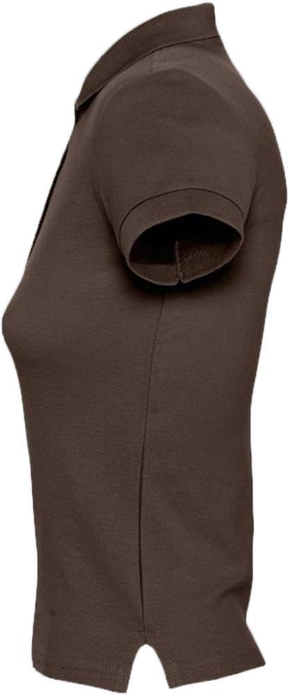 Рубашка поло женская People 210, шоколадно-коричневая - 3
