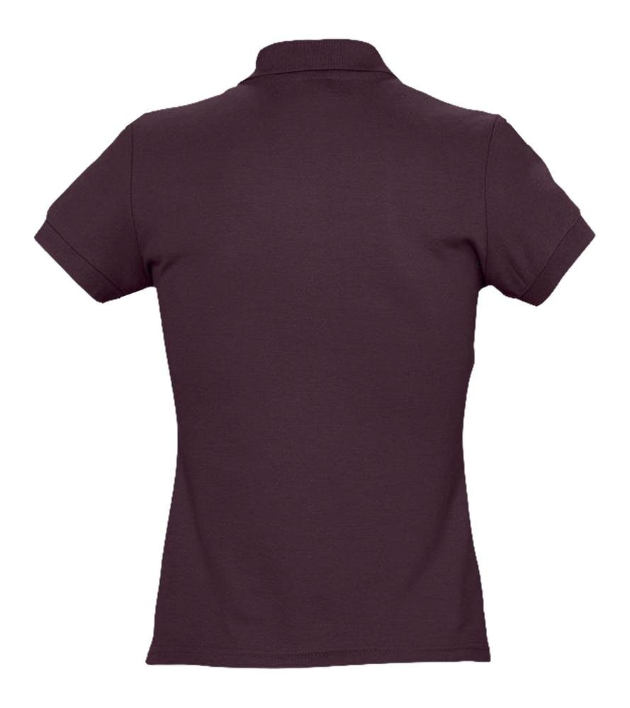 Рубашка поло женская Passion 170, бордовая - 2