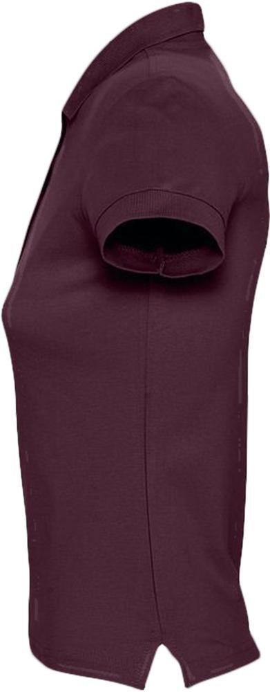 Рубашка поло женская Passion 170, бордовая - 3