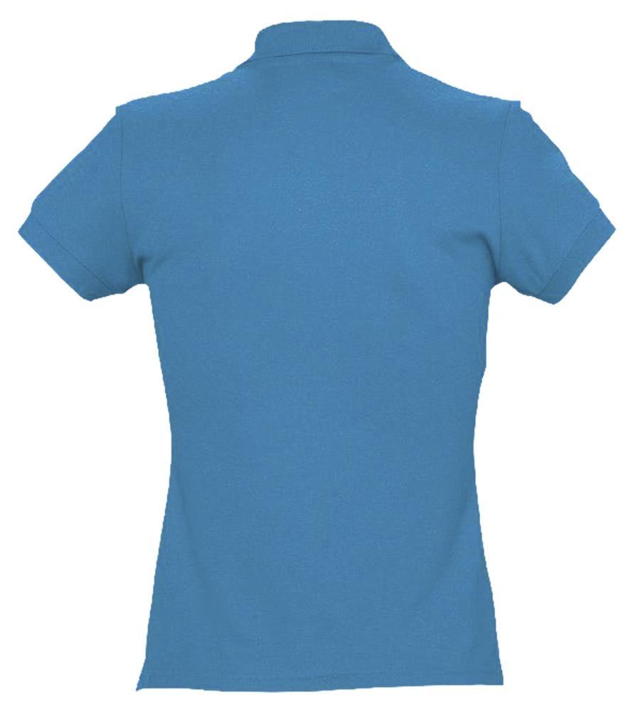 Рубашка поло женская Passion 170, ярко-бирюзовая - 2