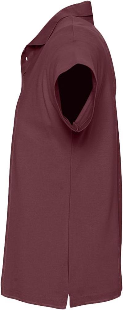 Рубашка поло мужская Summer 170, бордовая - 2