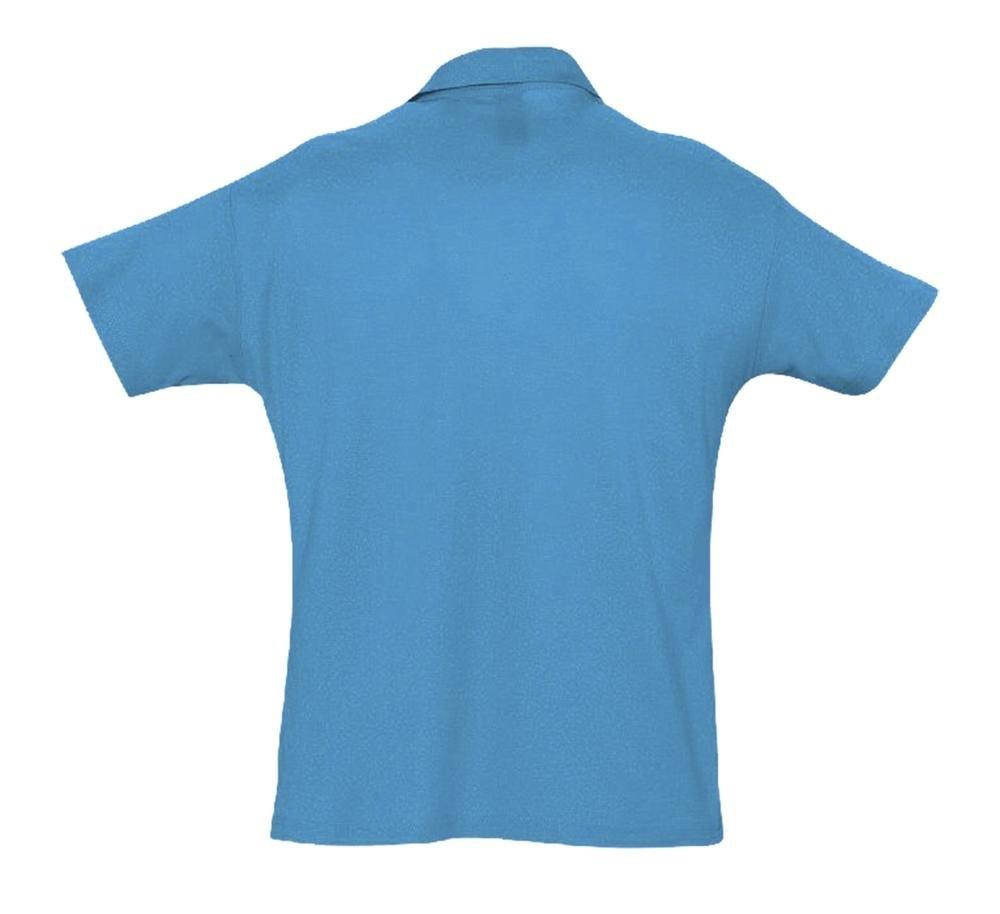 Рубашка поло мужская Summer 170, ярко-бирюзовая - 1