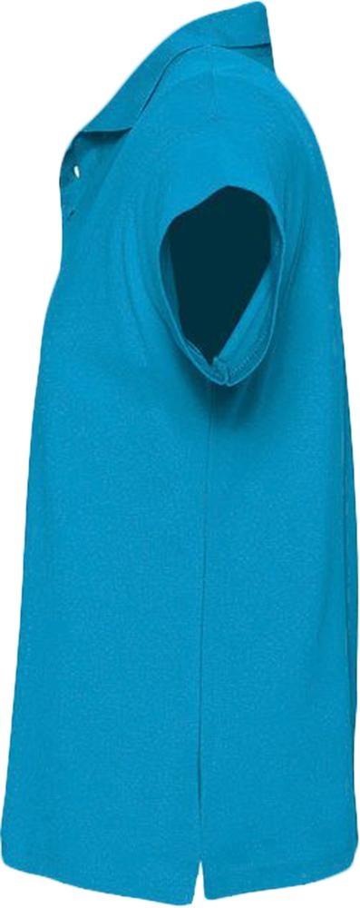 Рубашка поло мужская Summer 170, ярко-бирюзовая - 3