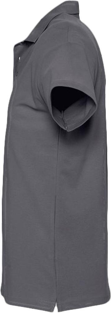 Рубашка поло мужская Spring 210, темно-серая - 2