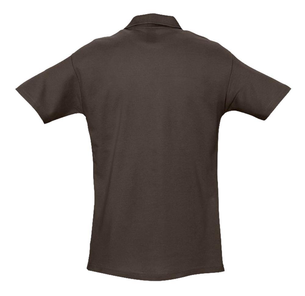Рубашка поло мужская Spring 210, шоколадно-коричневая - 1