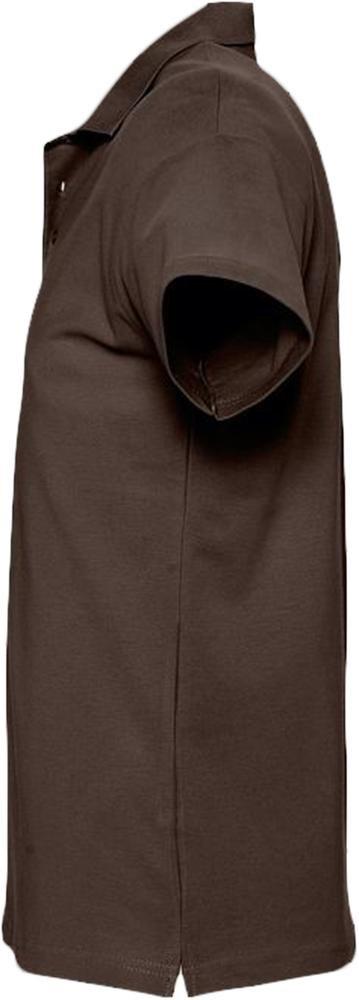Рубашка поло мужская Spring 210, шоколадно-коричневая - 2