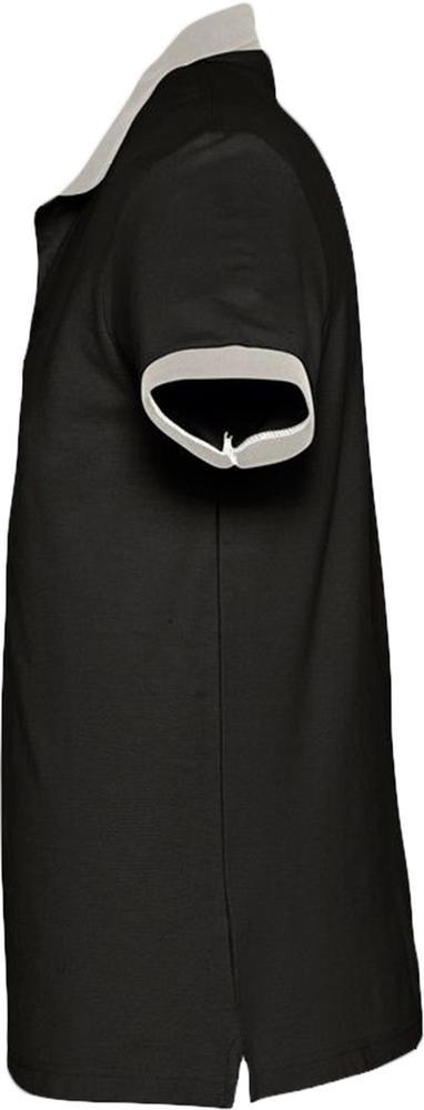 Рубашка поло Prince 190, черная с серым - 2