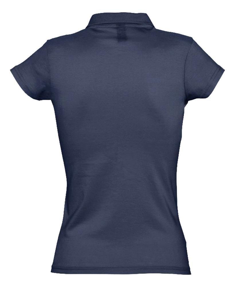 Рубашка поло женская Prescott Women 170, темно-синяя - 3