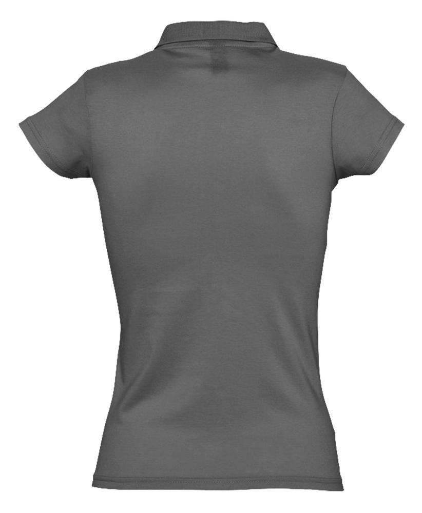 Рубашка поло женская Prescott Women 170, темно-серая - 3