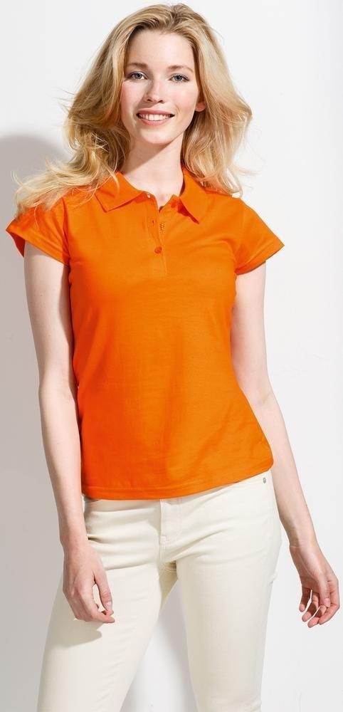 Рубашка поло женская Prescott Women 170, оранжевая - 5