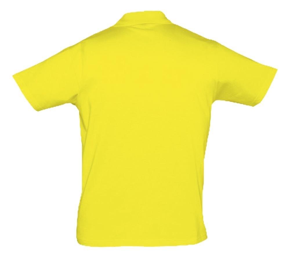 Рубашка поло мужская Prescott Men 170, желтая (лимонная) - 1