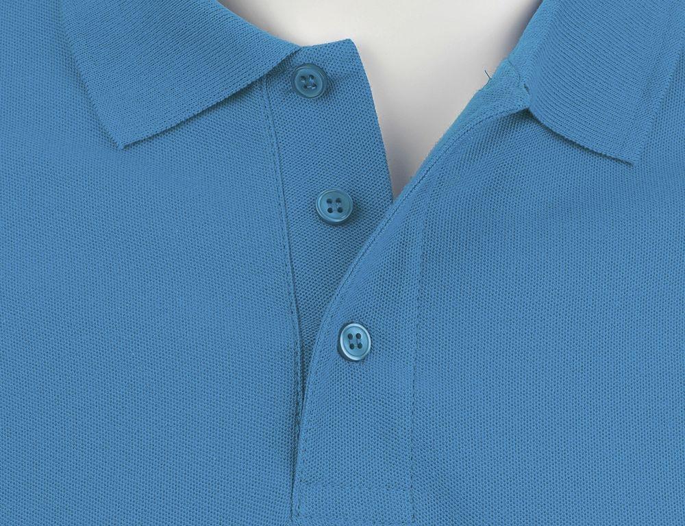 Рубашка поло мужская Summer 170, ярко-бирюзовая - 2