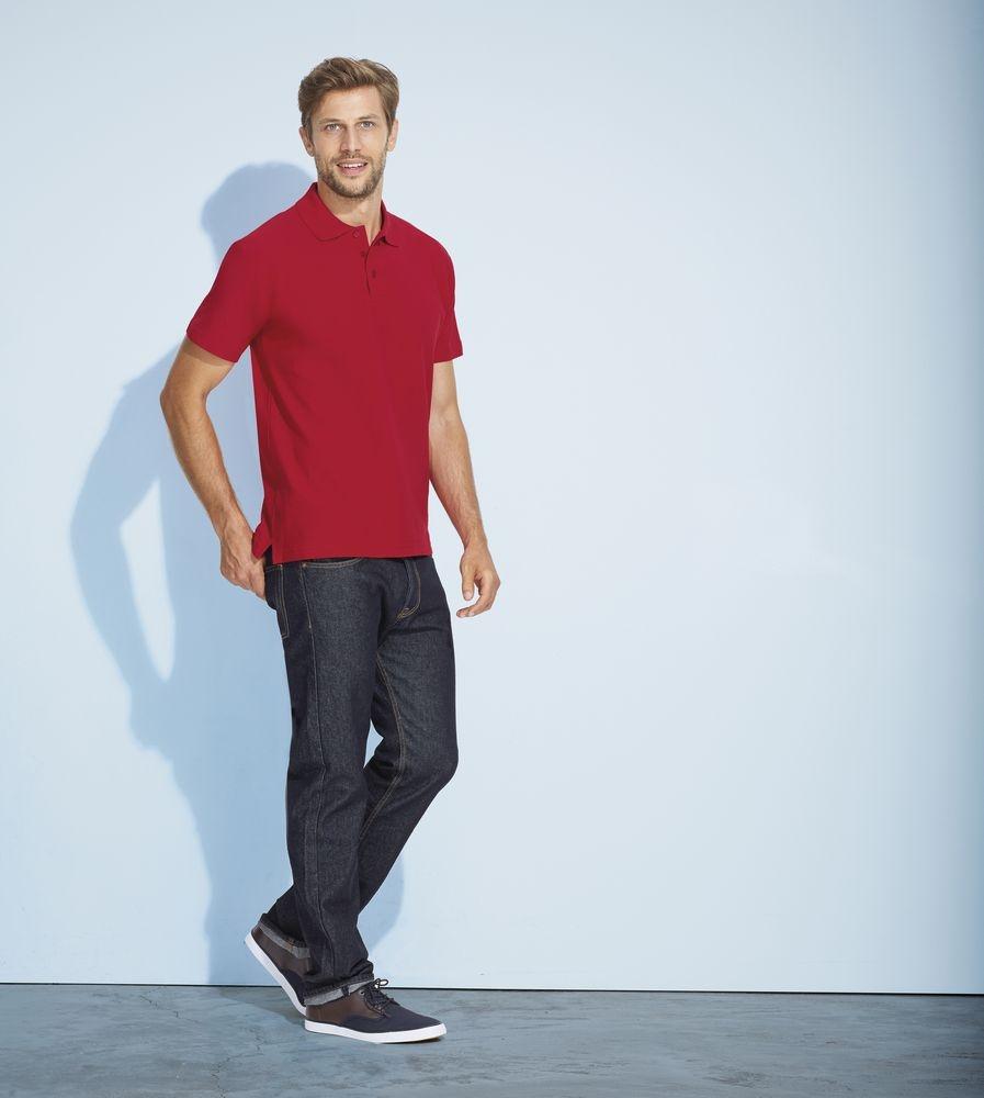 Рубашка поло мужская Summer 170, бордовая - 4