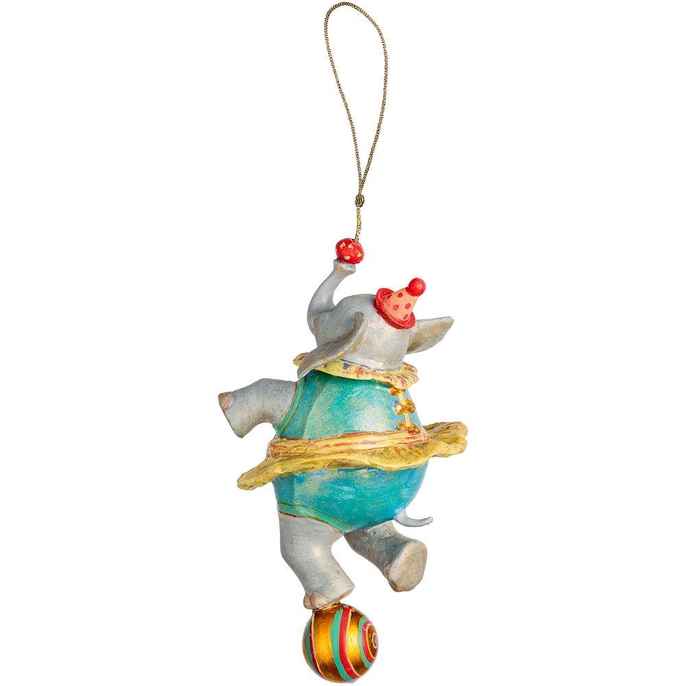 Набор из 3 елочных игрушек Circus Collection: барабанщик, акробат и слон - 10