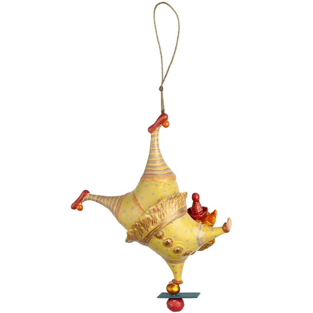 Набор из 3 елочных игрушек Circus Collection: барабанщик, акробат и слон - 16