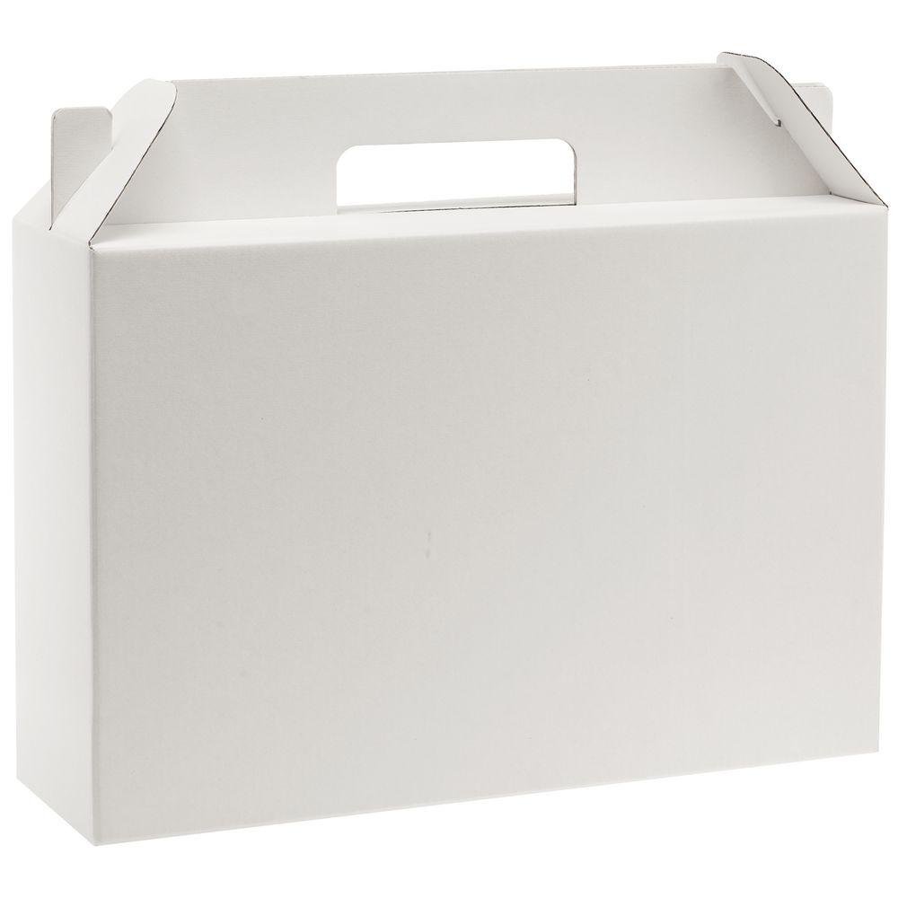 Коробка In Case L, белый, самосборная, 35,7х10,2х30 см, микрогофрокартон - 6