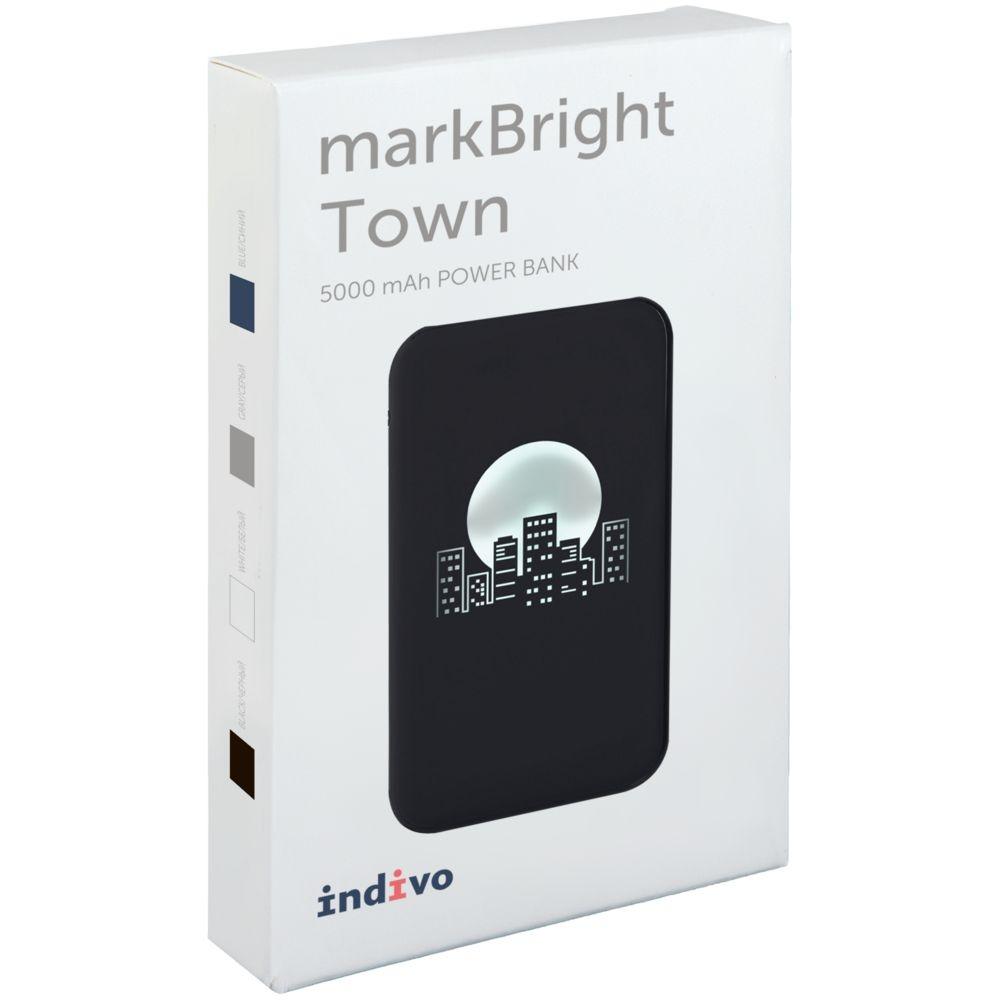 Аккумулятор с подсветкой markBright Town, 5000 мАч, серый - 8